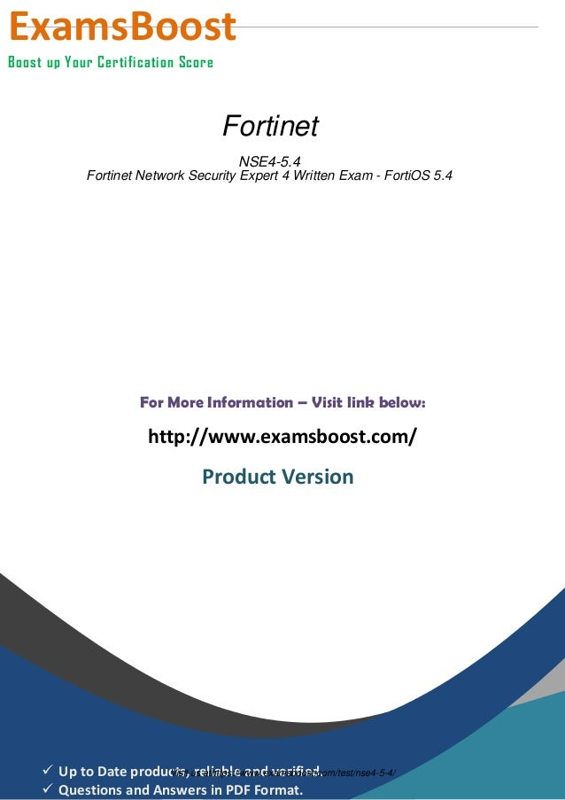 Nse4 54 Exam Practice Software