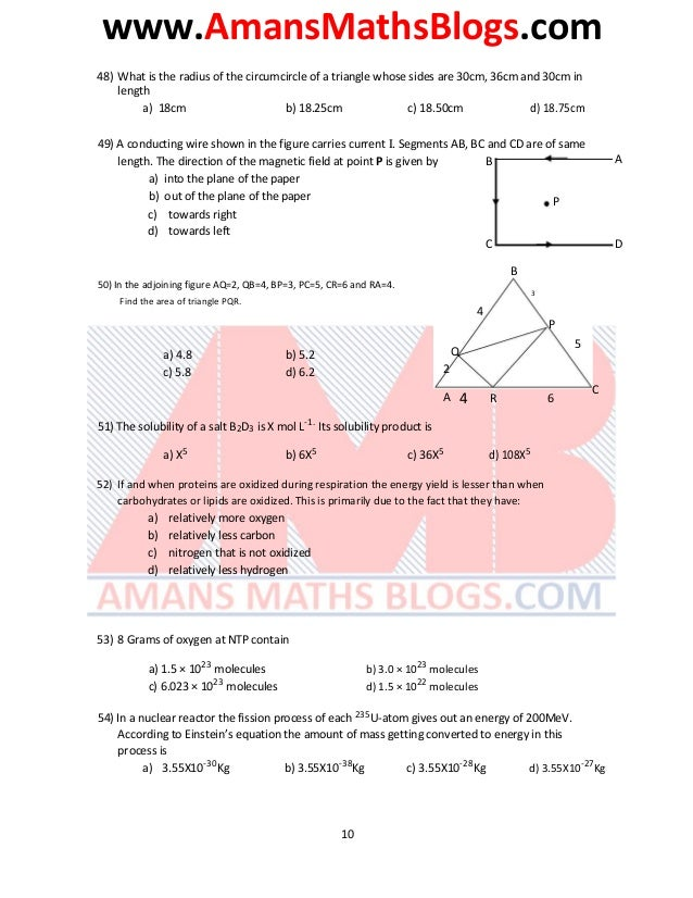 www.AmansMathsBlogs.com 48) What is the radius of the circumcircle of a triangle whose sides are 30cm, 36cm and 30cm in le...