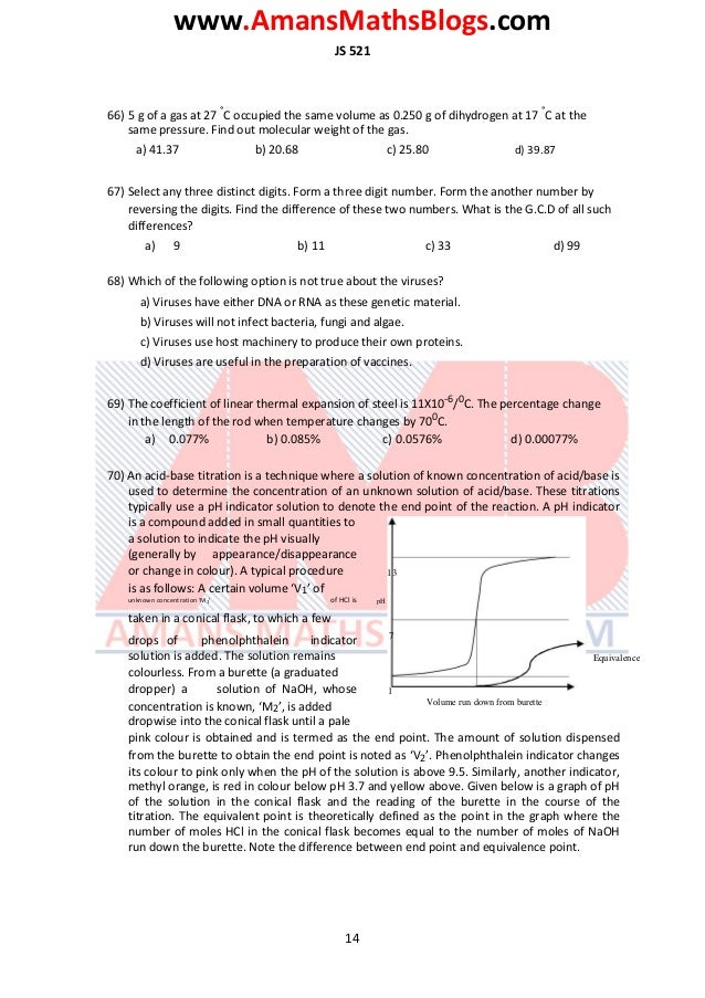 www.AmansMathsBlogs.com JS 521 66) 5 g of a gas at 27 ° C occupied the same volume as 0.250 g of dihydrogen at 17 ° C at t...