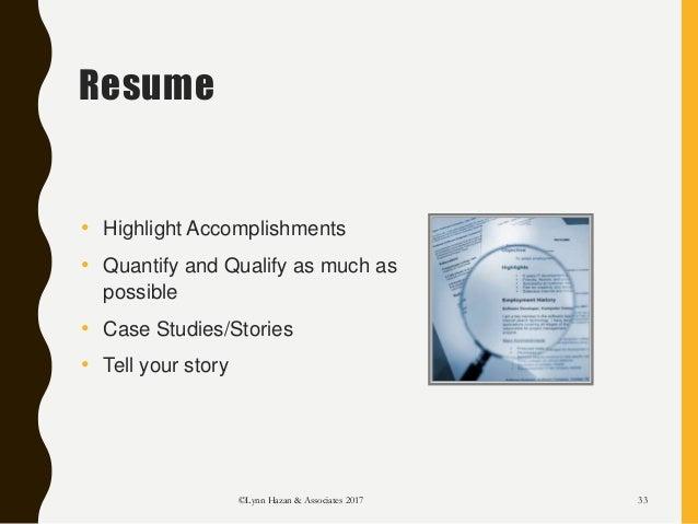 Resume U2022 Highlight Accomplishments ...