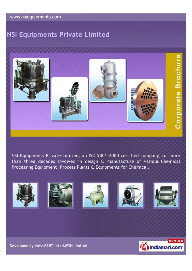 NSI Equipments Private Limited NSI Equipments Private Limited, an ISO 9001-2000 certified company, for more than three dec...