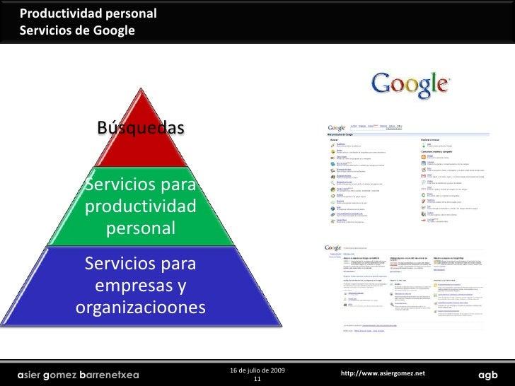 Productividad personal<br />Servicios de Google<br />