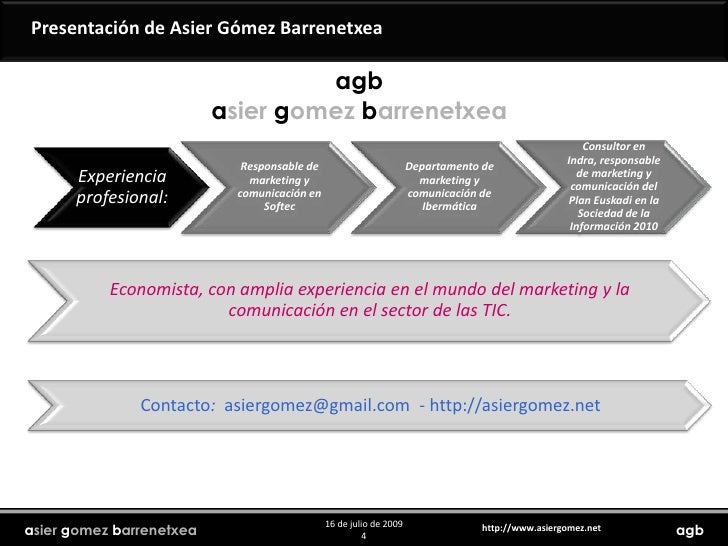 Presentación de Asier Gómez Barrenetxea<br />agbasiergomezbarrenetxea<br />