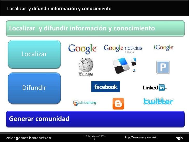 Localizar  y difundir información y conocimiento<br />