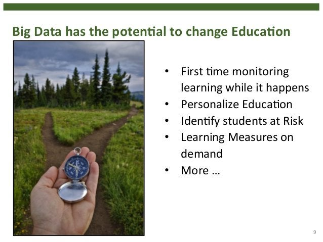 Big  Data  has  the  potenHal  to  change  EducaHon  9  • First  4me  monitoring  learning  while  it  happens  • Personal...