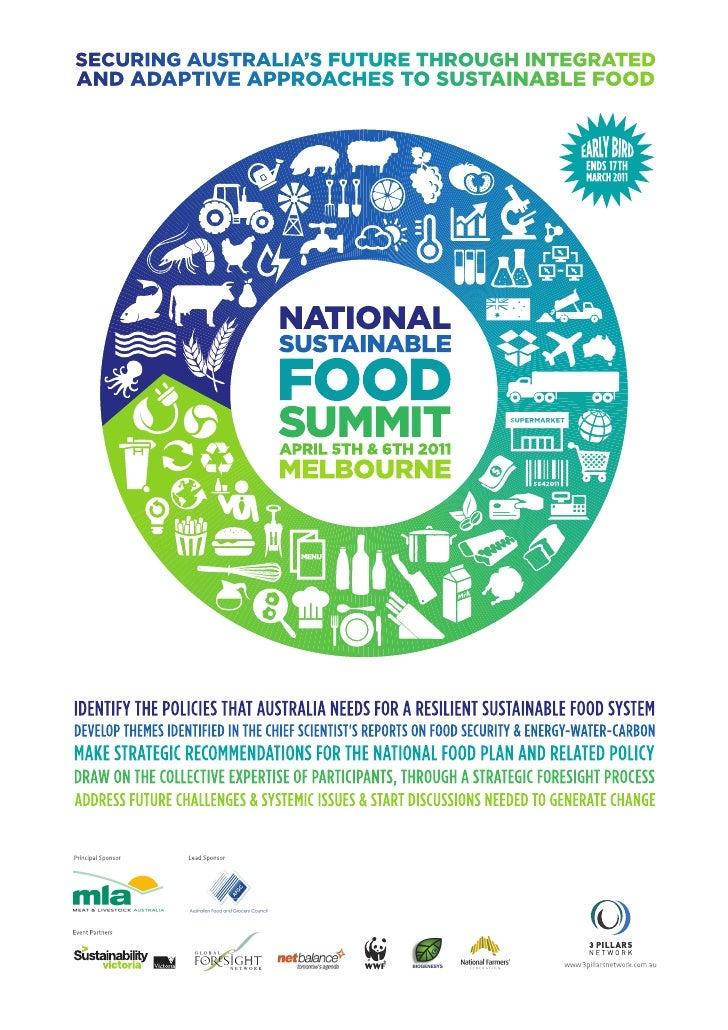 National Sustainable Food Summit Program