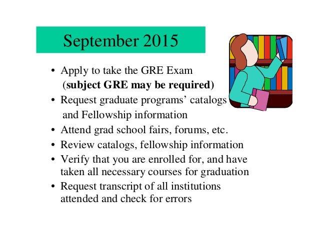 nsf summer reu seminar applying to graduate school v