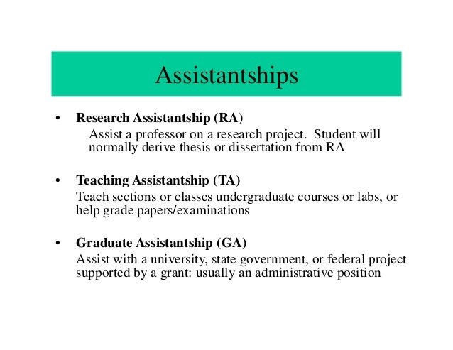 Dissertation research assistantship