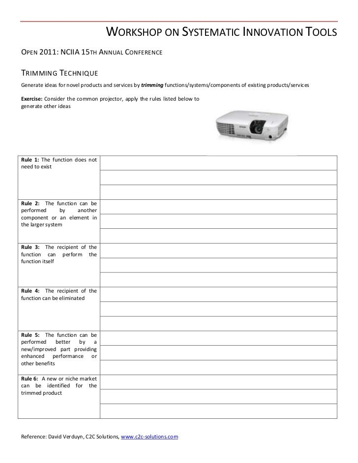 NSF Tools & Techniques - Trimming - Worksheet - Open 2011
