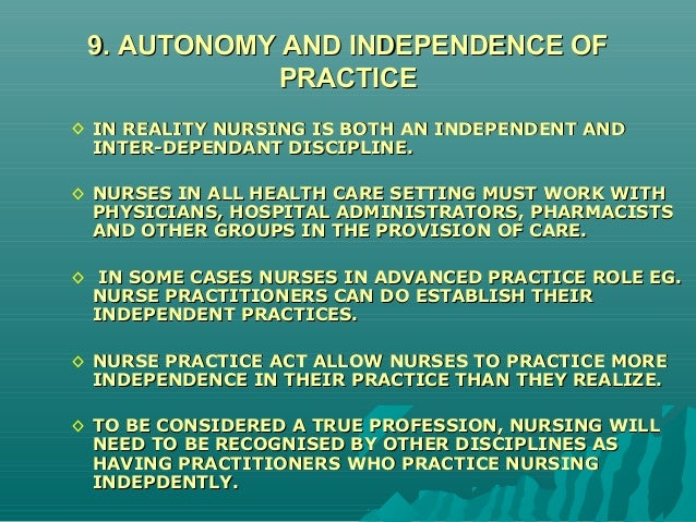 is nursing a discipline or profession or both New nursing essay uploaded by carl the minimum standards of competence and ethical conduct set by peers within the profession and discipline and by the employing organization the nursing profession therefore remains committed to the care and nurturing of both healthy and ill people.