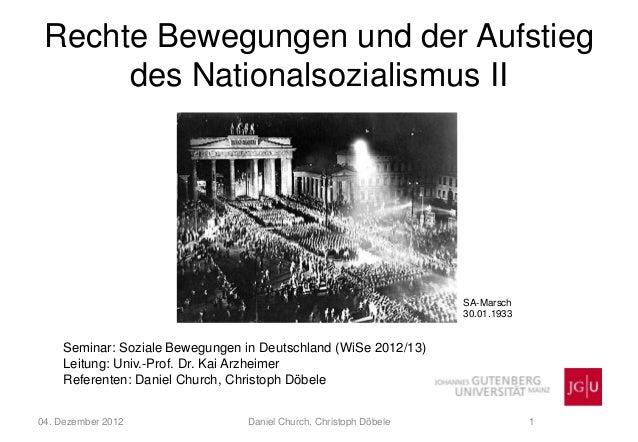 Rechte Bewegungen und der Aufstieg      des Nationalsozialismus II                                                        ...