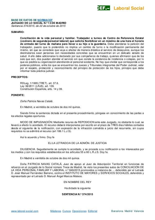 Juzgado de lo social n 13 madrid for Juzgado seguridad social