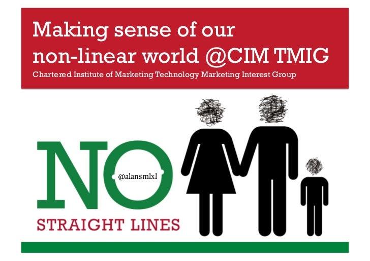Making sense of ournon-linear world @CIM TMIGChartered Institute of Marketing Technology Marketing Interest Group         ...