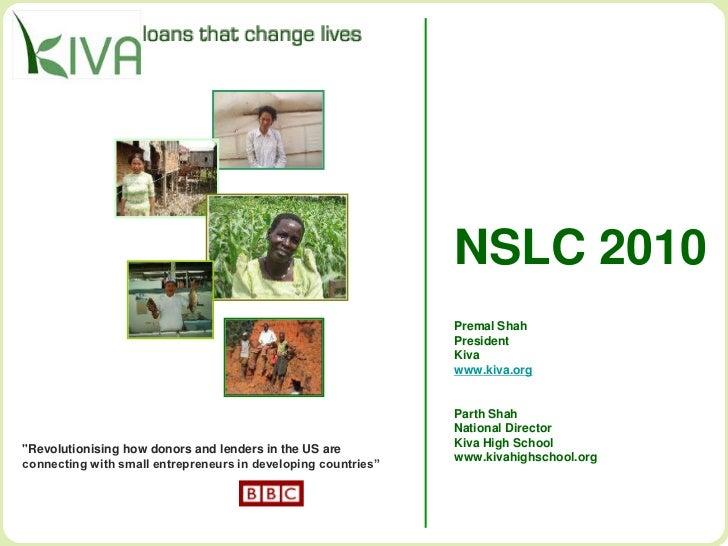 NSLC 2010                                                               Premal Shah                                       ...
