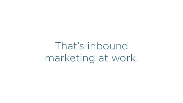 INBOUND MARKETING HAS A COMPOUNDING RETURN.