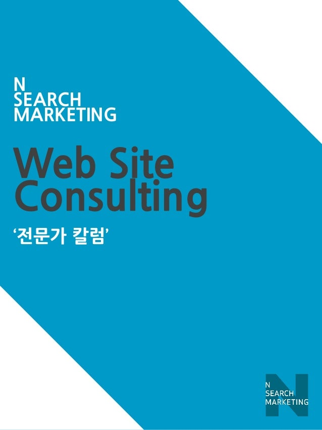 Web Site  Consulting  '전문가 칼럼'  N  SEARCH  MARKETING