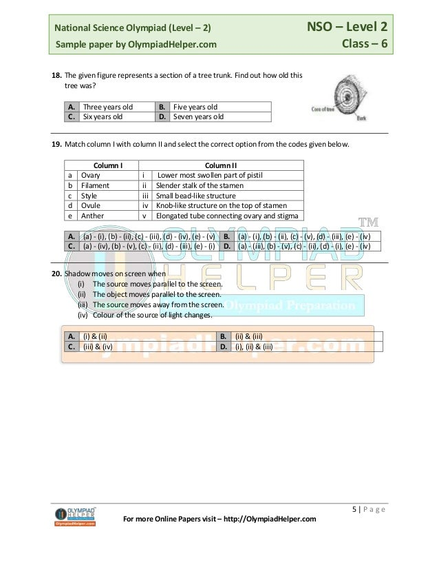 Nso level-2-sample-paper-class-6