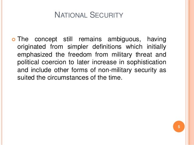 role of national security in pakistan Islamabad: the government has accepted a proposal by the inter-services intelligence to let its operatives take pre-emptive action against individuals and organisations breaching national security.