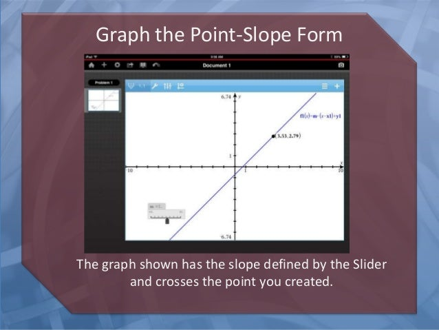 Nspire Ipadapptutorial Point Slope Form