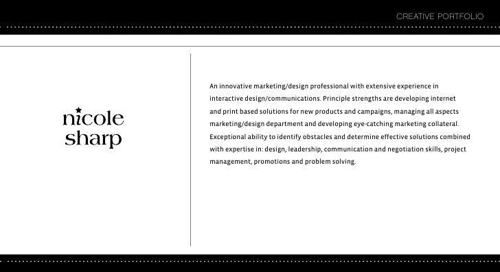 CREATIVE PORTFOLIO     An innovative marketing/design professional with extensive experience in interactive design/communi...
