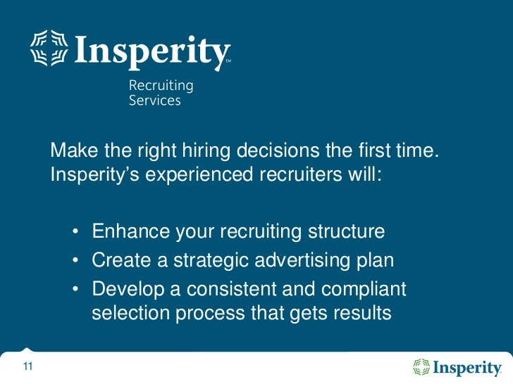 Turning Your Vision Into Reality<br />Insperity stands shoulder to shoulder with you as a co-employer, sharing or absorbi...