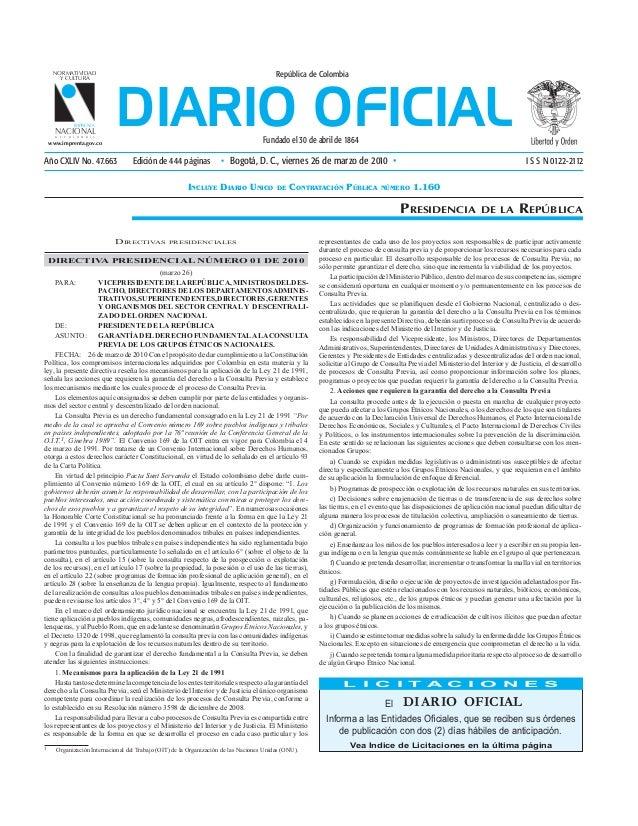 NORMATIVIDAD                                                                         República de Colombia                ...