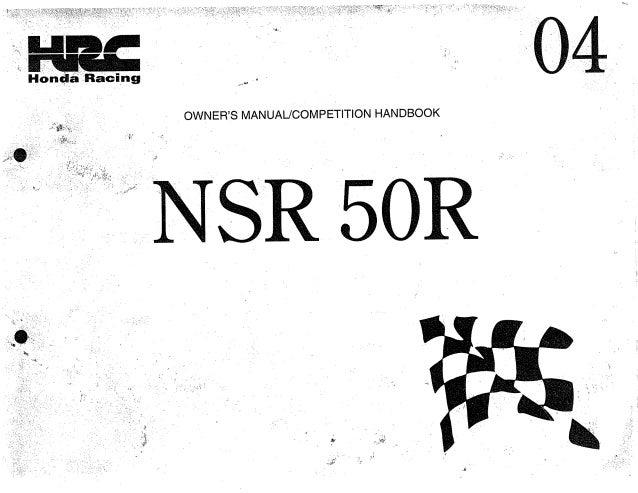 Nsr50 manual de taller