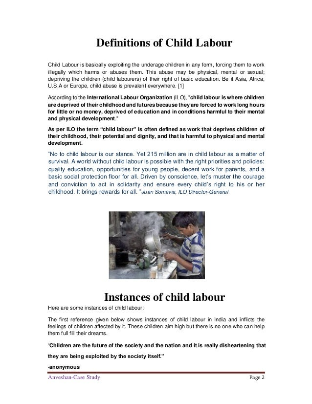 Child Labour: A Case Study of Child Labourers in the ...