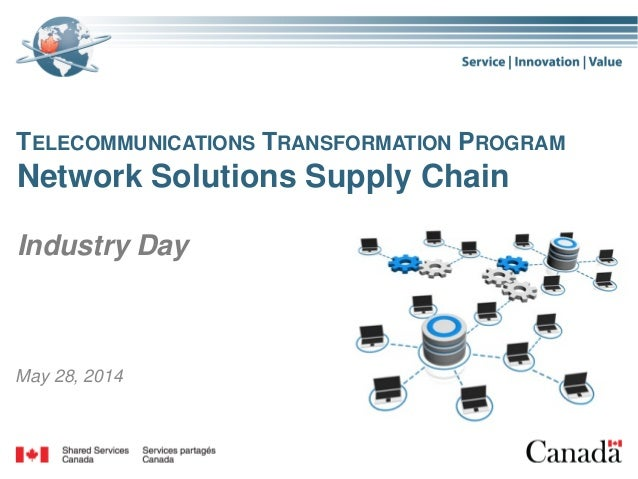 1 May 28, 2014 TELECOMMUNICATIONS TRANSFORMATION PROGRAM Network Solutions Supply Chain Industry Day