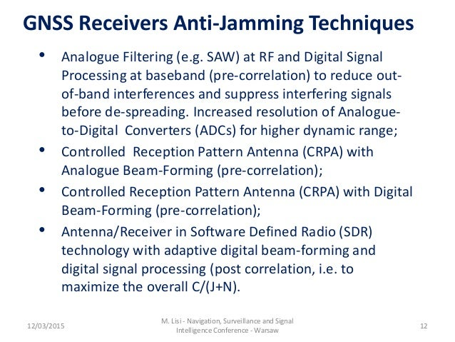 Gnss Jamming Detection Localization And Mitigation