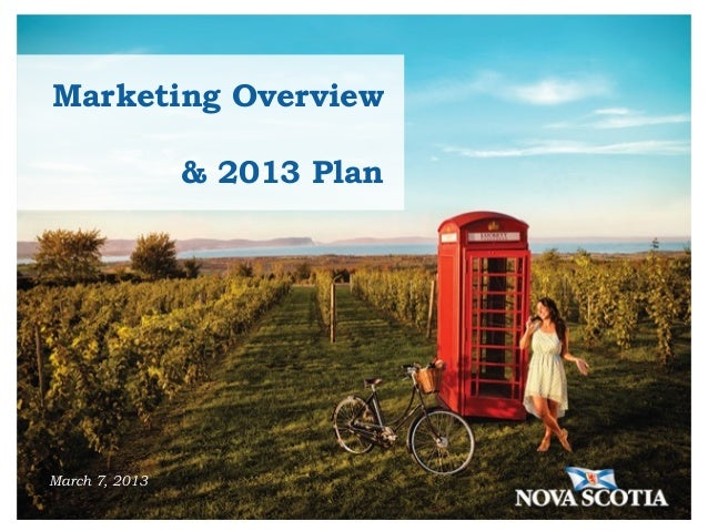 Marketing Overview                & 2013 PlanMarch 7, 2013