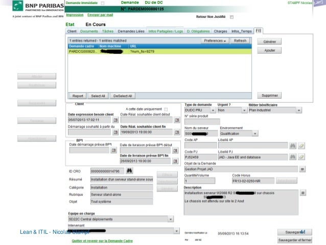 Copyright © Institut Lean France 2012  The PM workflow tool  Fear…  Lean & ITIL - Nicolas Stampf  41