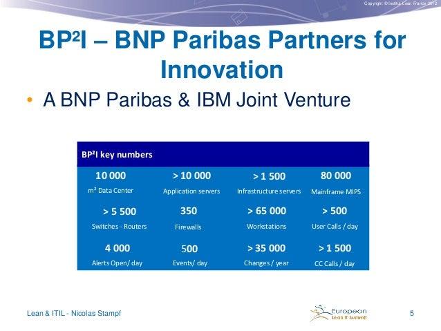 Copyright © Institut Lean France 2012  BP²I – BNP Paribas Partners for Innovation • A BNP Paribas & IBM Joint Venture BP²I...