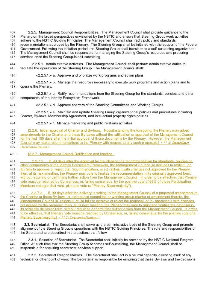407        2.2.5. Management Council Responsibilities. The Management Council shall provide guidance to the408   Plenary o...