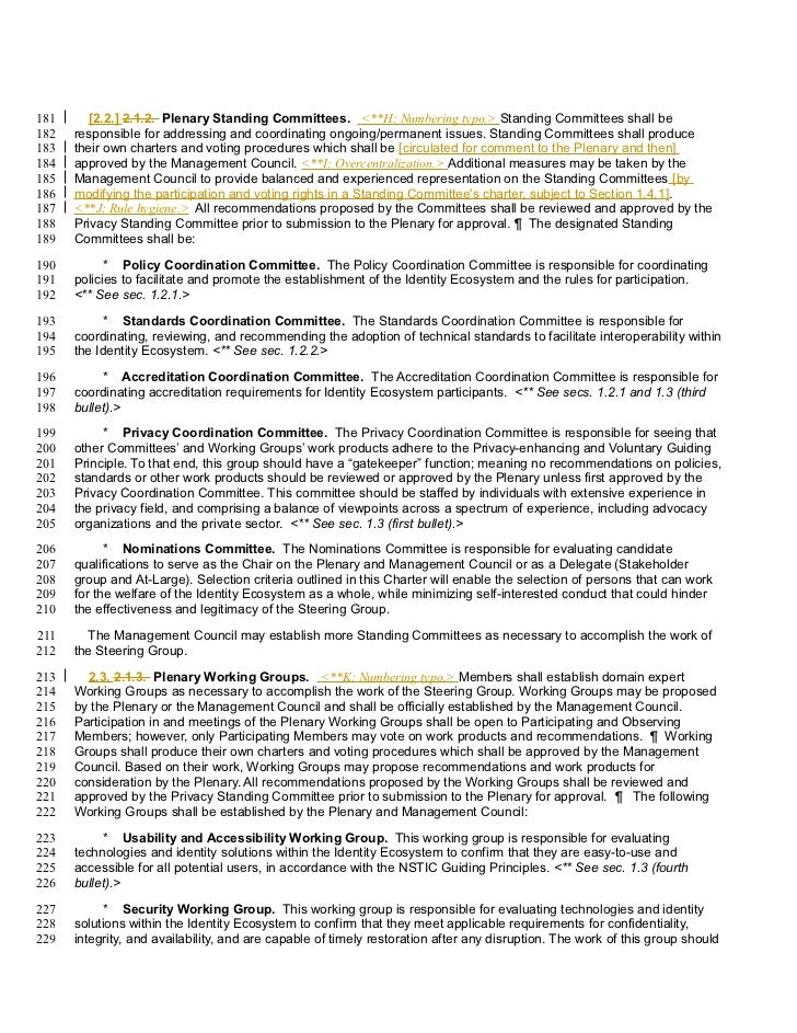 181      [2.2.] 2.1.2. Plenary Standing Committees. <**H: Numbering typo.> Standing Committees shall be182   responsible f...