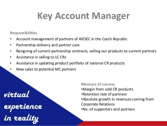 ... 5. Key Account ManagerResponsibilitiesu2022 Account Management ...