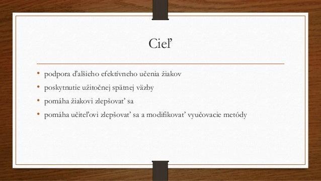 Nástroje formatívneho hodnotenia Slide 2
