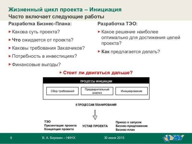 9 30 июня 2015В. А. Боронин – НИНХ Разработка Бизнес-Плана: Какова суть проекта? Что ожидается от проекта? Каковы требован...