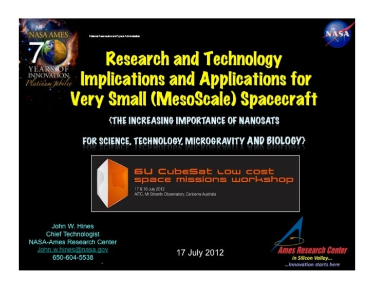 Research and Technology Implications and Applications for Very Small