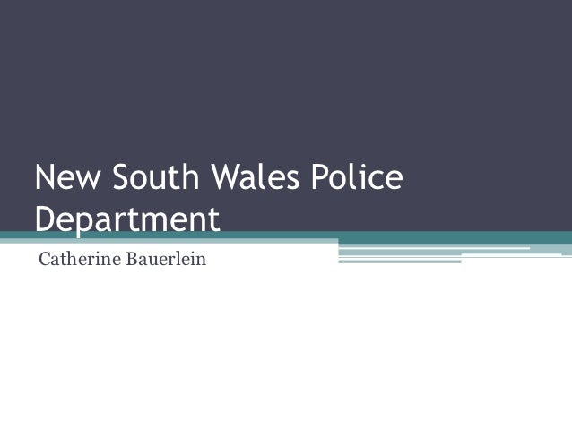 New South Wales PoliceDepartmentCatherine Bauerlein