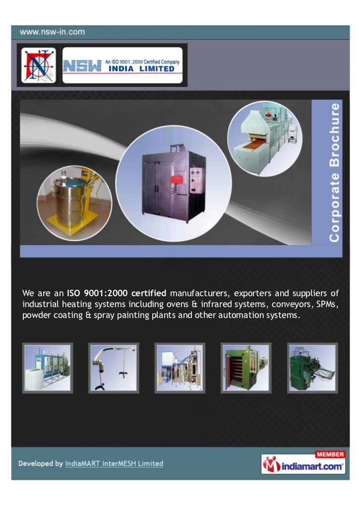 We are an ISO 9001:2000 certified manufacturers, exporters and suppliers ofindustrial heating systems including ovens & in...