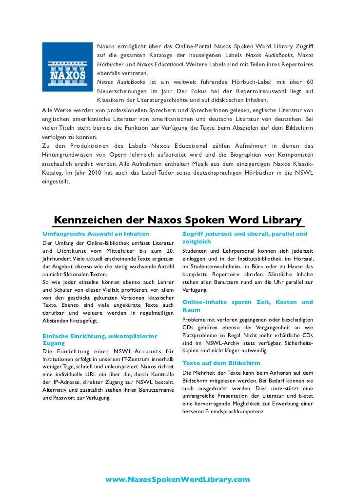 Naxos Spoken Word Library Broschüre (Deutsch) Slide 2