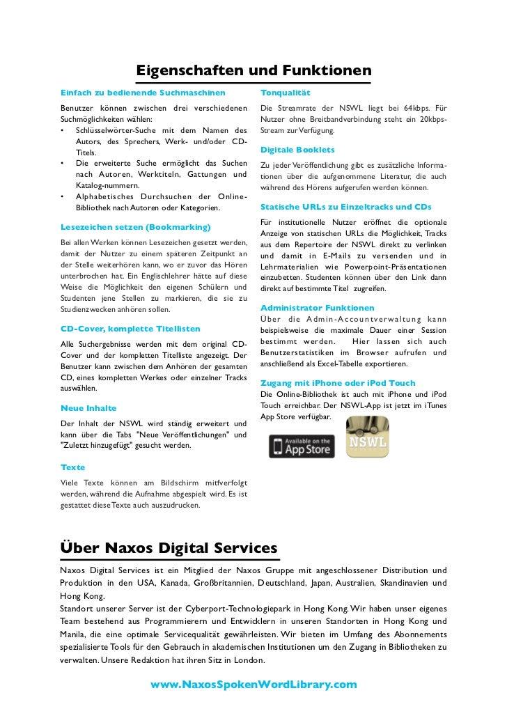 Naxos Spoken Word Library Broschüre (Deutsch) Slide 3