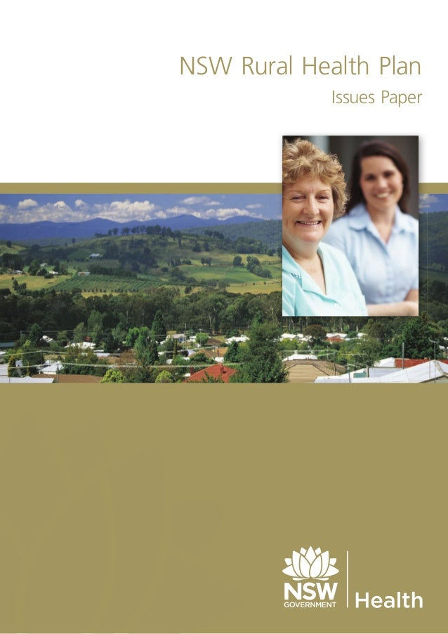 NSW Rural Health Plan Issues Paper