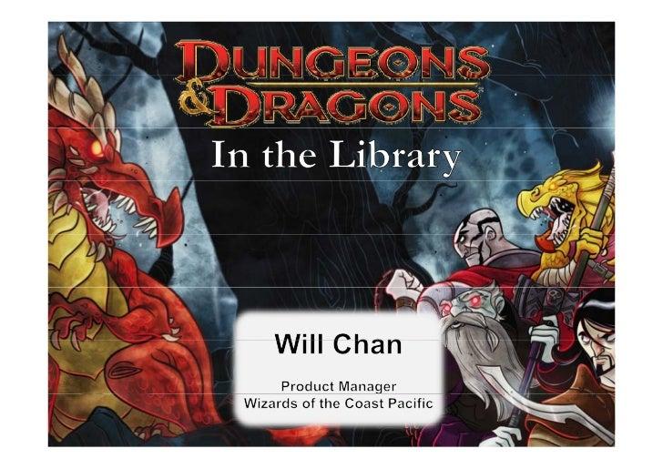 Agenda           g1. D&D: What is it?2. How can D&D help libraries2 H               h l lib i   achieve their goals?      ...