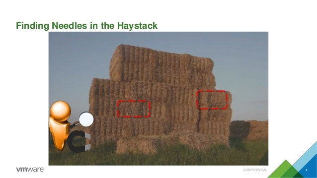Finding Needles in the Haystack CONFIDENTIAL 4