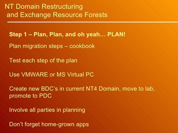 how to move a pdc or a bdc to a new domain How do we transfer user data from our nt4 pdc/bdc to a new win2k server and do we have to replace o  (pdc) and backup domain controller (bdc) with a dell server .