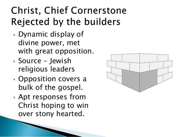 Mark: Christ, Chief Cornerstone