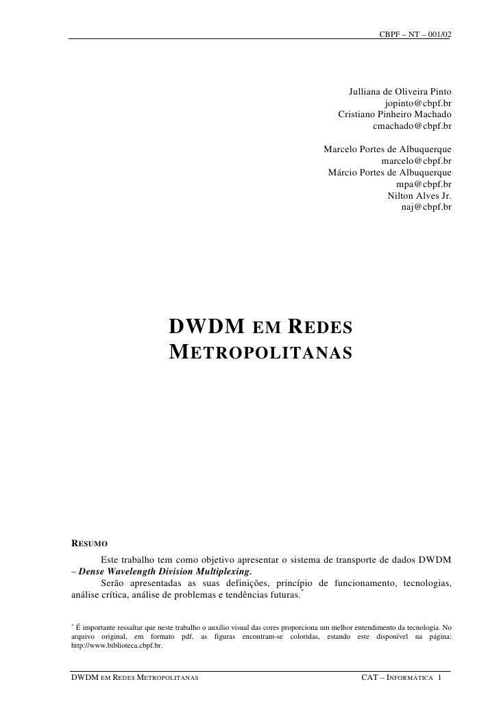CBPF – NT – 001/02                                                                                             Julliana de...