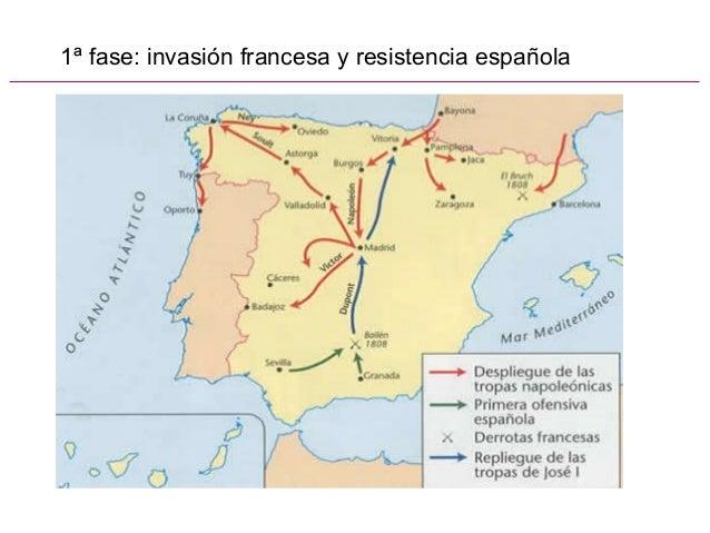 1ª fase: invasión francesa y resistencia española
